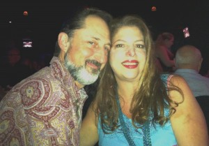 Jolene and Eric enjoying a date night out at a concert.