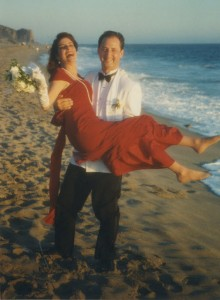 Jolene and her hubby on their wedding day.