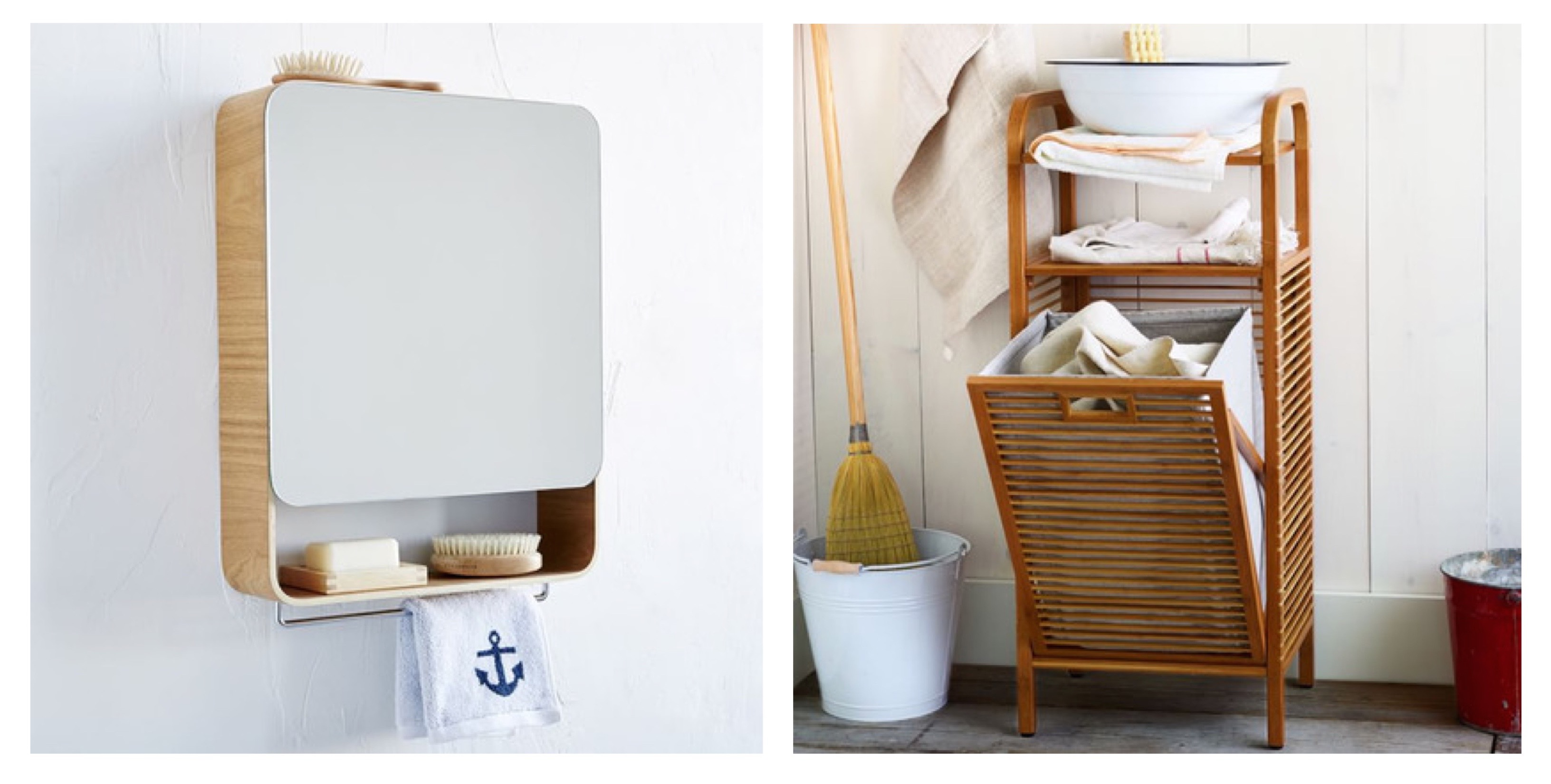 West elm bathroom cabinet - The Universal Expert Bathroom Cabinet Marries Style And Functionality Its Warm Beech Exterior Is Paired With A Full Size Vanity Mirror That S Mirrored On
