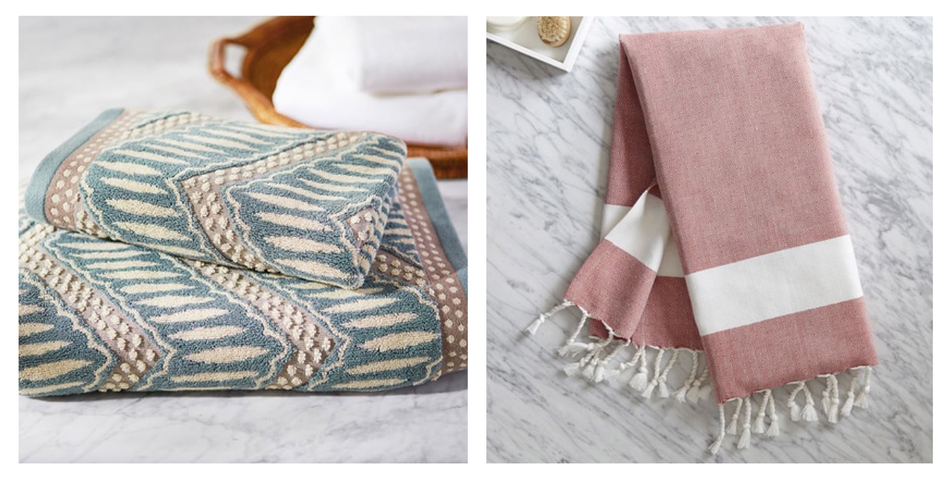 your beautiful bathroomwedding registry ideas and inspiration  - add cool and neutral hues to a bath to create a sense of calm our toweladds focal interest with just the right amount of pattern