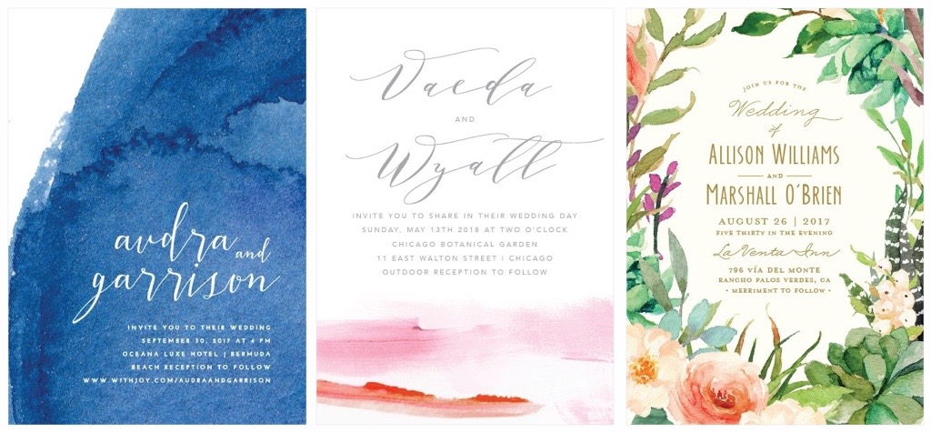 Trending now watercolor wedding invitations wedding registry watercolor inspired paper suites whimsical elegant at the same time this style is a surefire way to standout on your guests refrigerators as they await junglespirit Choice Image