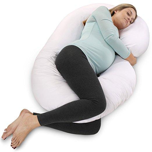 PharMeDoc Full Body C-Shaped Pregnancy Pillow