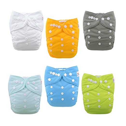 ALVABABY Baby Cloth Diaper Set