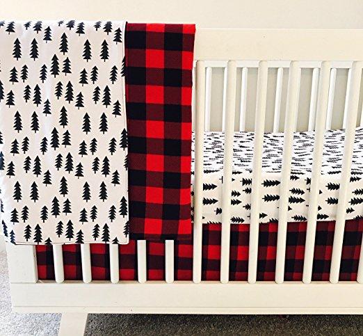 AllTot Crib Bedding Set- Forest Adventure - 3 Piece