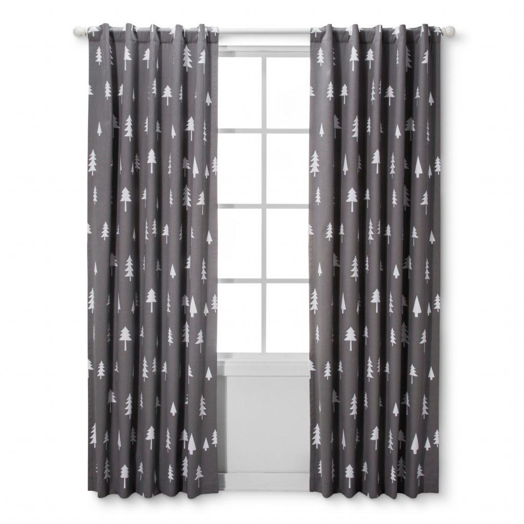 Light Blocking Curtain Panel Trees - Cloud Island™ - Gray