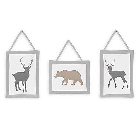 Sweet Jojo Designs Woodland Animals Wall Hangings (Set of 3)