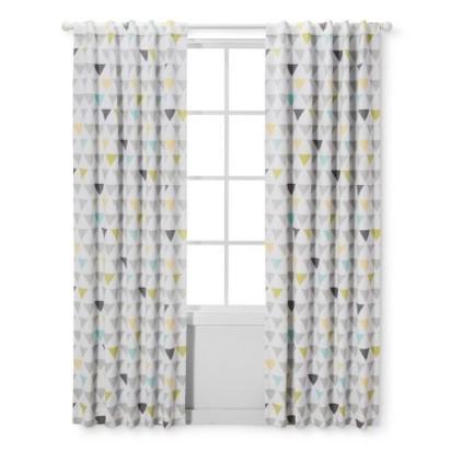 Light Blocking Curtain Panel Triangles - Cloud Island™ - Gray