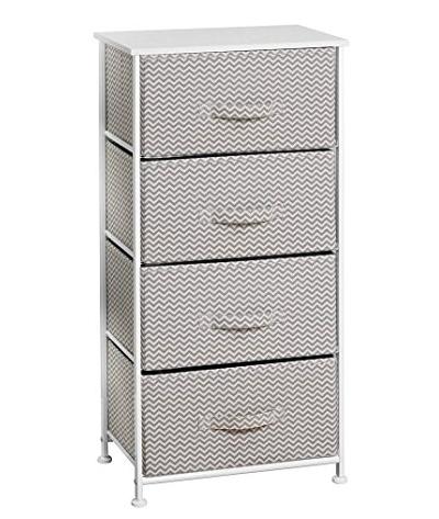 mDesign Fabric Baby 4-Drawer Dresser and Storage Organizer