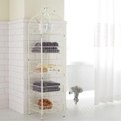 Le Bain 5-Tier Antique White Shelf