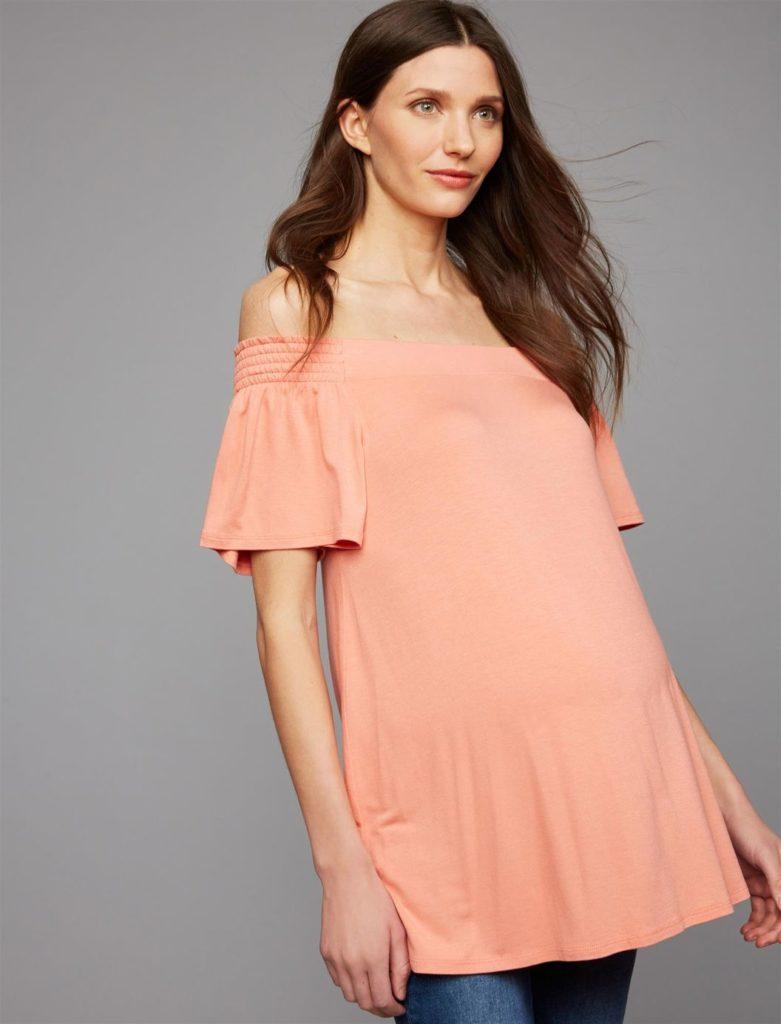 Flutter Sleeve Maternity Top
