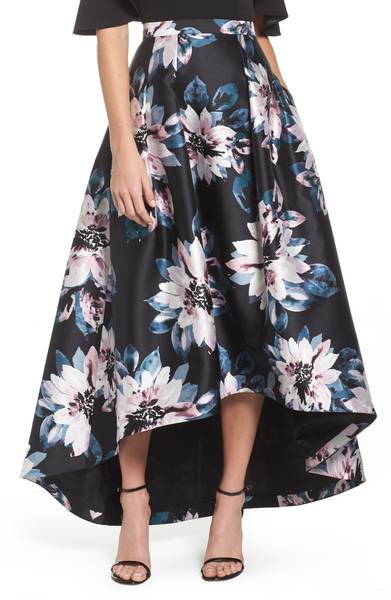 Floral High/Low Skirt by Eliza J