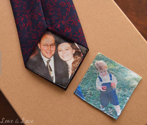 Custom Photo Tie or Suit Patch by LoveAndLaceHankies
