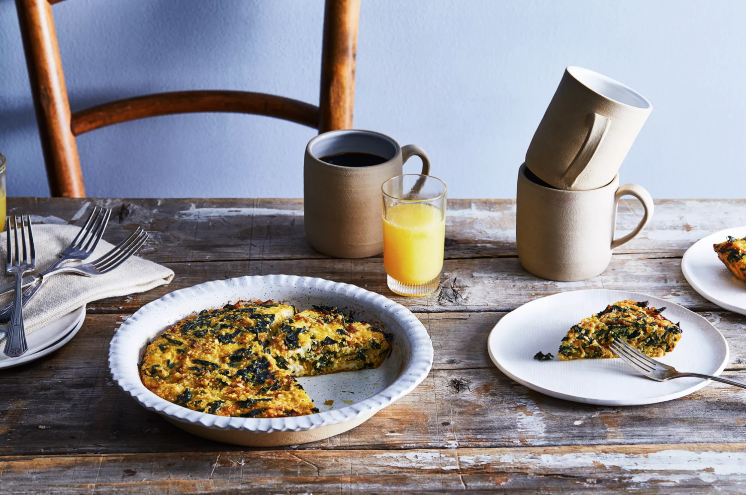 Quinoa and Kale Crustless Quiche from Food52