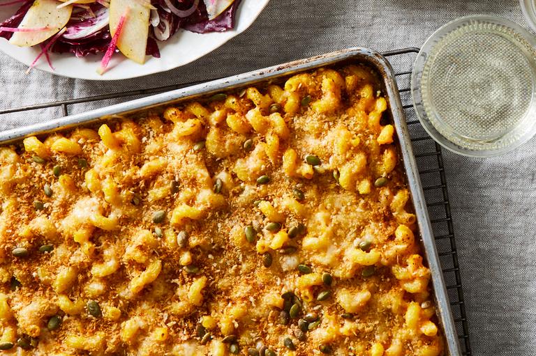 Sheet-Pan Mac & Cheese With Pumpkin & Brown Butter by Food52